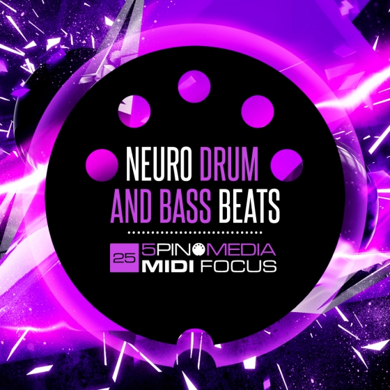5Pin Media MIDI Focus Neuro Drum and Bass Beats MULTiFORMAT