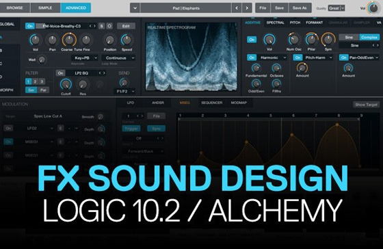 ADSR Special FX Sound Design in Logic Pro 10.2  Alchemy TUTORIAL
