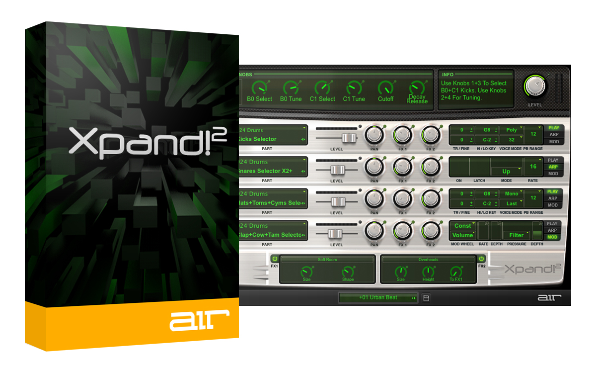 AIR Music Tech Xpand!2 v2.2.7 WiN X86 X64 VST (ISO - Custom installer)