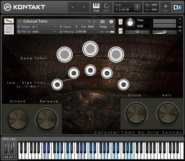 ARIA Sounds Colossal Toms KONTAKT DVDR