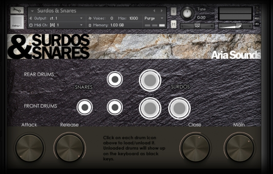 ARIA Sounds Surdos And Snares KONTAKT DVDR