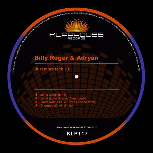 Adryan, Billy Roger - Just More Tech [KLP 117]