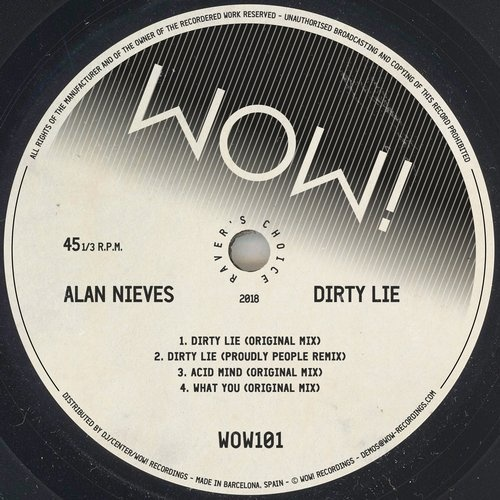 Alan Nieves - DIRTY LIE EP [WOW101]