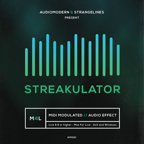 Audiomodern StrangeLines STREAKULATOR For ABLETON LiVE AND MAX FOR LiVE-DISCOVER