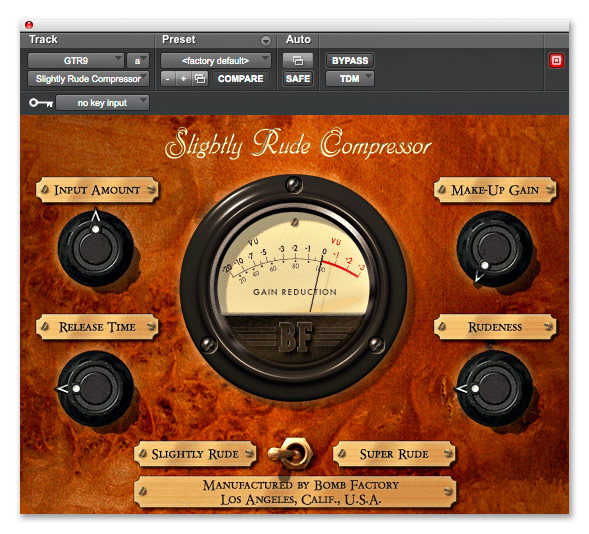 Avid Slightly Rude Compressor v8.0 MAC OSX RTAS-iND