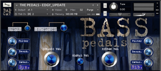 Bad Cat Samples The Bass Pedals KONTAKT EXS24