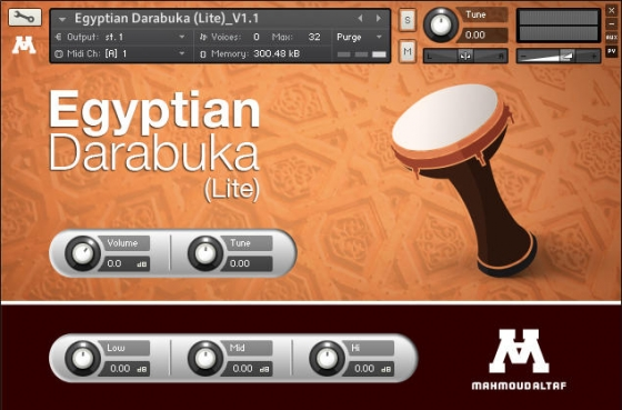 Beautiful Darabuka Drum Library V.1.1 Lite MiDi EXS24 KONTAKT