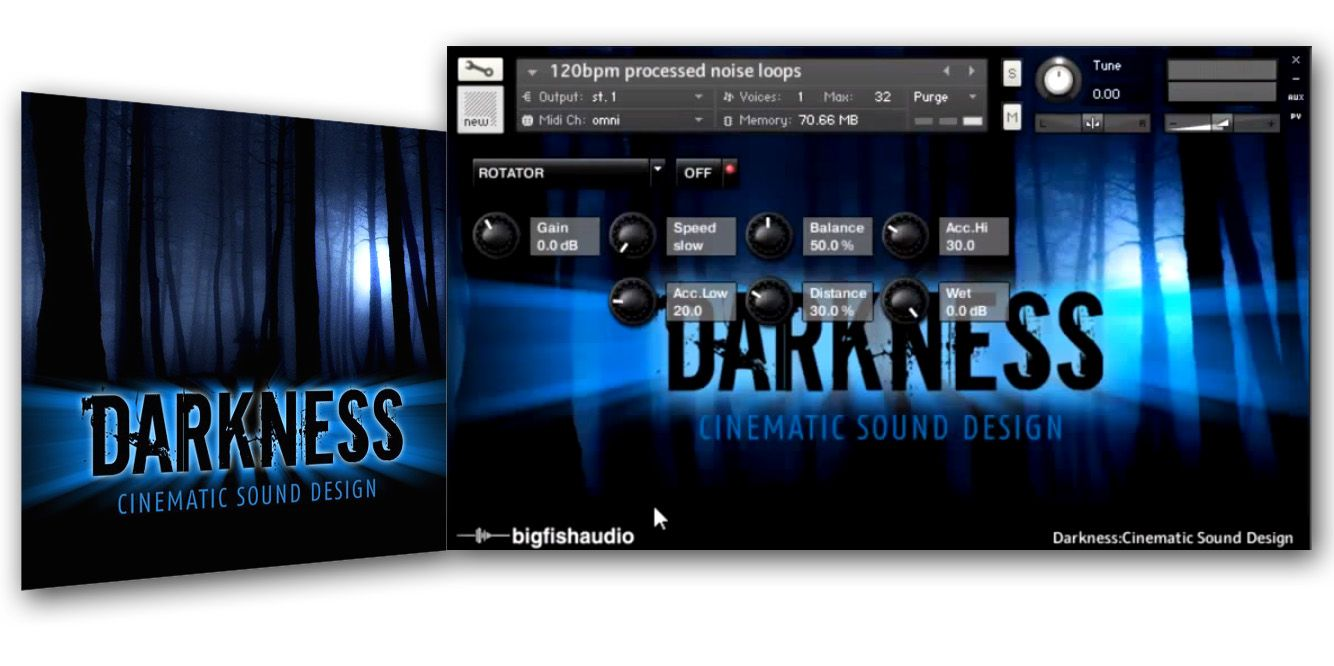 Big Fish Audio Darkness Cinematic Sound Design KONTAKT