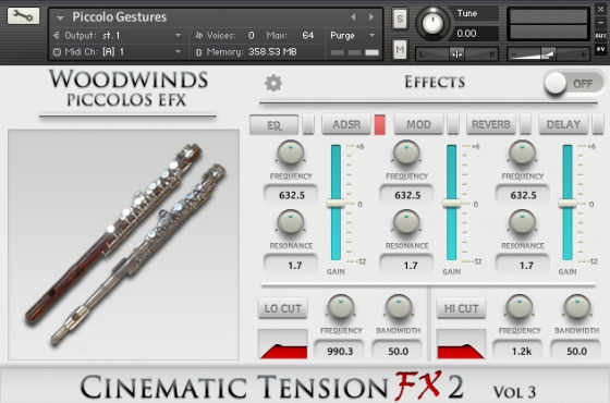 Cacophony Inc Cinematic Tension FX 2 Vol.3 Piccolos KONTAKT