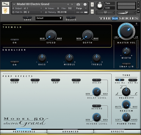 Chocolate Audio The 88 Series Model 80 Electric Grand KONTAKT