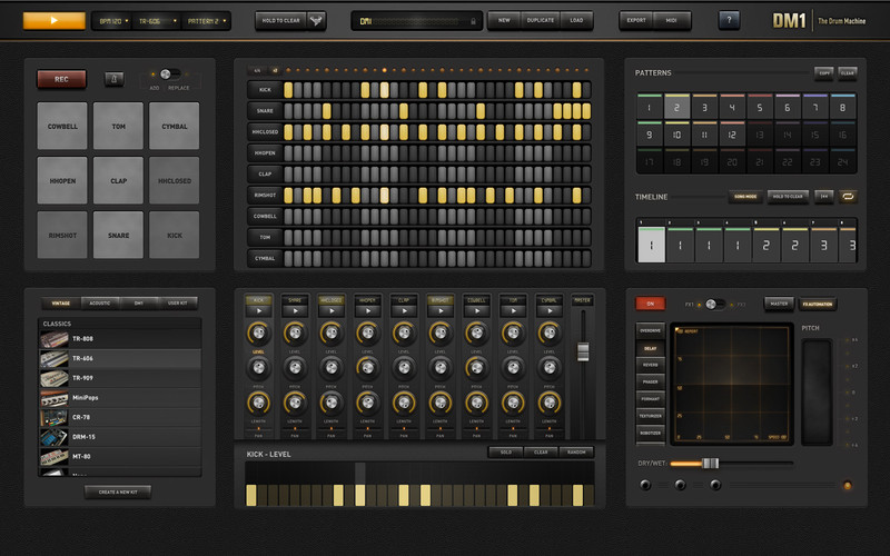 DM1 The Drum Machine 2.1 Mac OS X