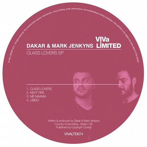 Dakar, Mark Jenkyns – Class Lovers EP [VIVALTD074]