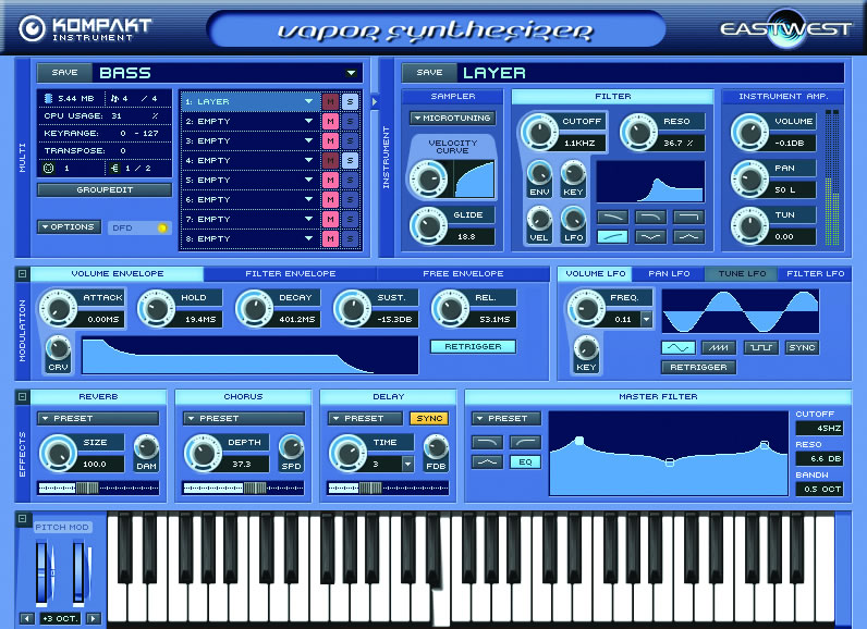 EastWest Vapor Virtual Synth v1.0 VSTi DXi AU HYBRiD DVDR-DELiRiUM