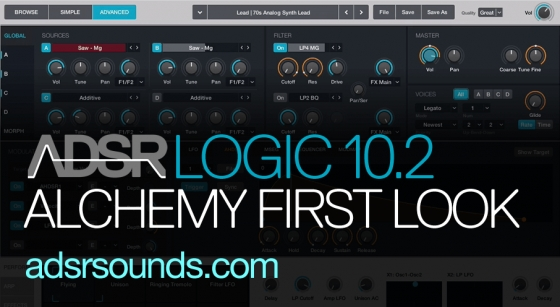 Echo Sound Works Alchemy First Look ( Logic 10.2 Update ) TUTORiAL