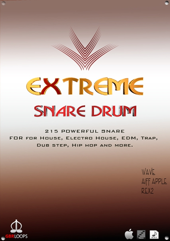GBR Loops Extreme Snare Drum WAV REX AiFF