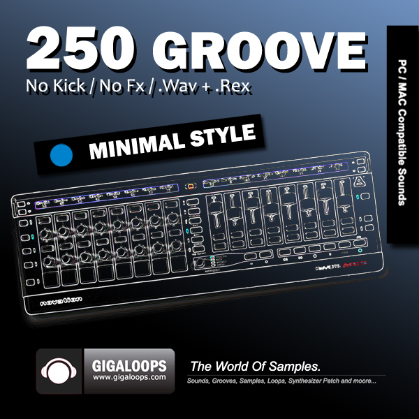 Giga Loops 250 Groove Minimal Style WAV REX-DISCOVER