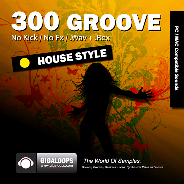 Giga Loops 300 Grooves House Style WAV REX-DISCOVER