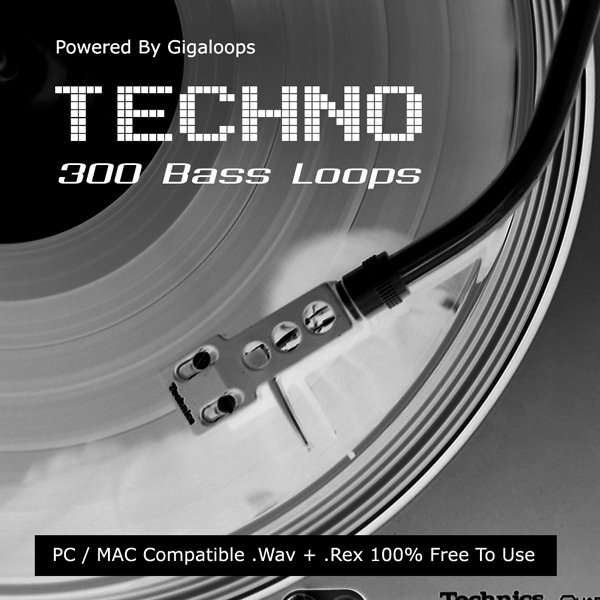 Giga Loops 300 Techno Bass Loops WAV REX-DISCOVER