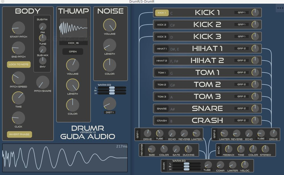 Guda Audio DrumR v1.1 WIN/OSX