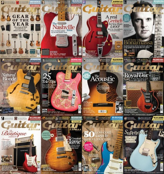 Guitar & Bass 2016 Full Year Issues Collection