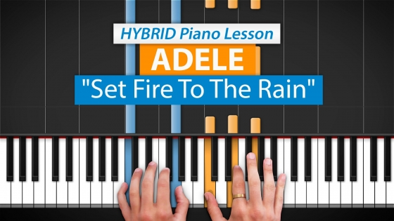 HDpiano Set Fire To The Rain by Adele TUTORiAL