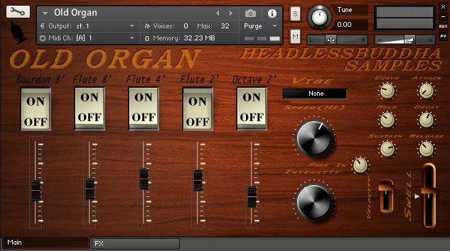 HeadlessBuddha Samples Old Organ KONTAKT