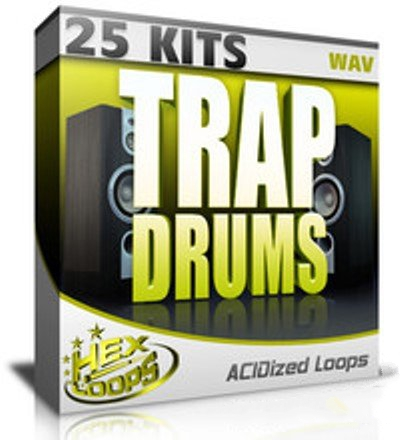 Hex Loops Trap Drums 25 Kits ACiD WAV