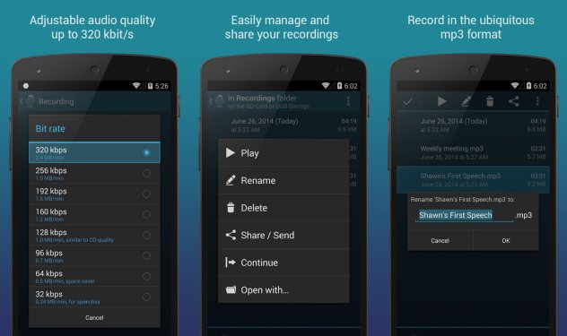 Hi-Q MP3 Voice Recorder (Pro) v2.1.0 For Android