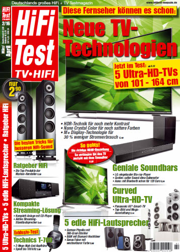 Hifi-Test TV Hifi Magazin März/April No 02 2016