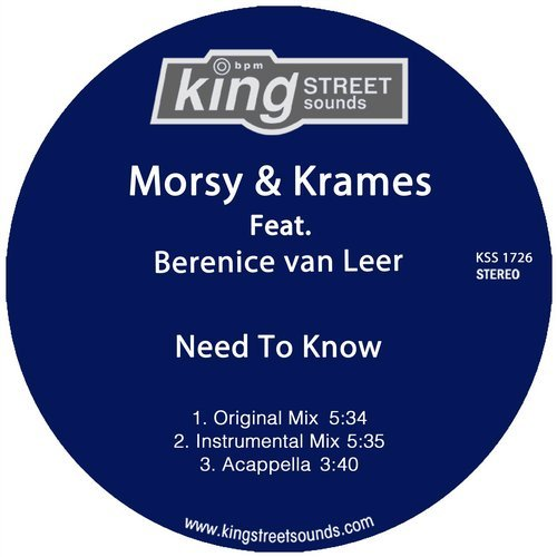 Krames, Morsy, Berenice Van Leer - Need To Know [KSS1726]