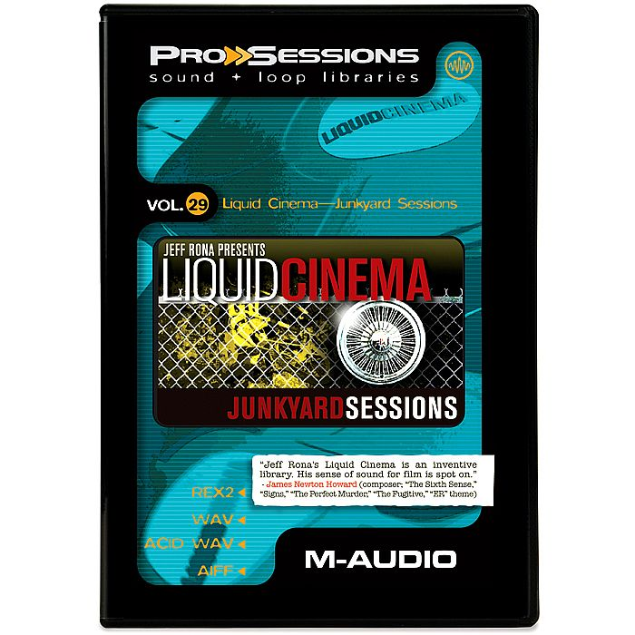 M-Audio Pro Sessions Vol.29 Liquid Cinema Junkyard Sessions ACiD WAV AiFF REX2-DYNAMiCS