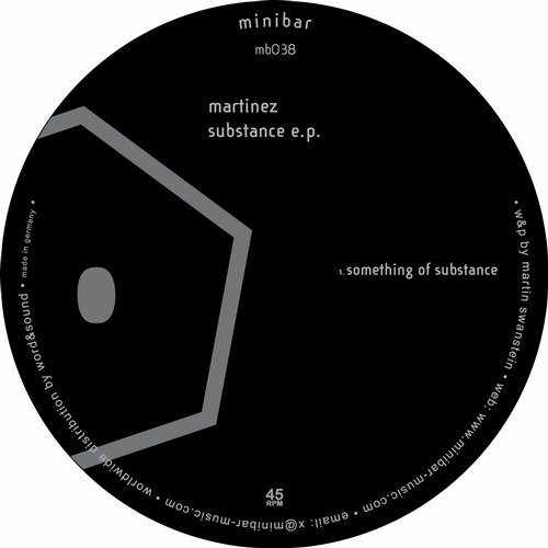 Martinez – Substance EP [MINIBAR038D]