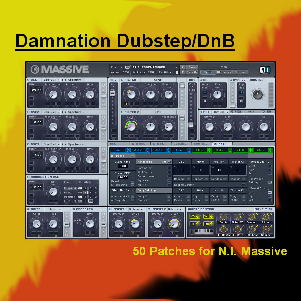 Xenos Soundworks Damnation Dubstep & DnB for NI Massive KSD NMSV