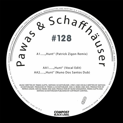 Mathias Schaffhäuser & Pawas - Compost Black Label #128 - Hunt EP [CPT4733]