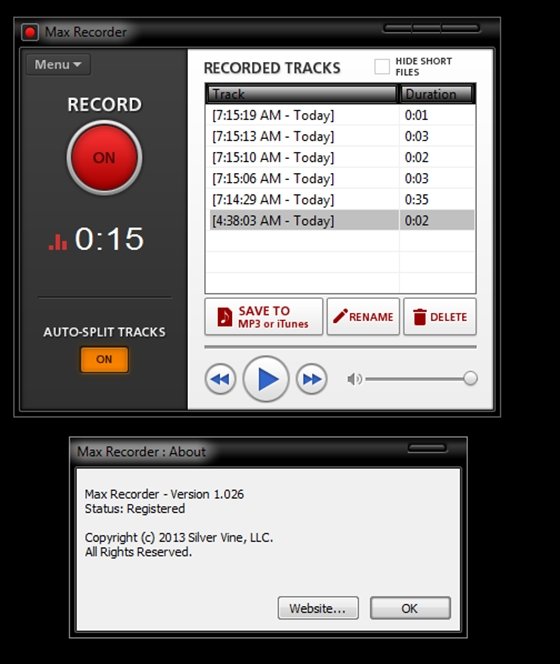 Max Recorder v.2.006 Patch-URET