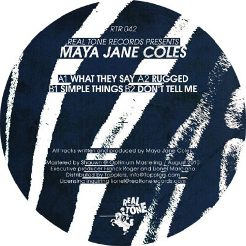 Maya Jane Coles – What They Say [RTR 042]