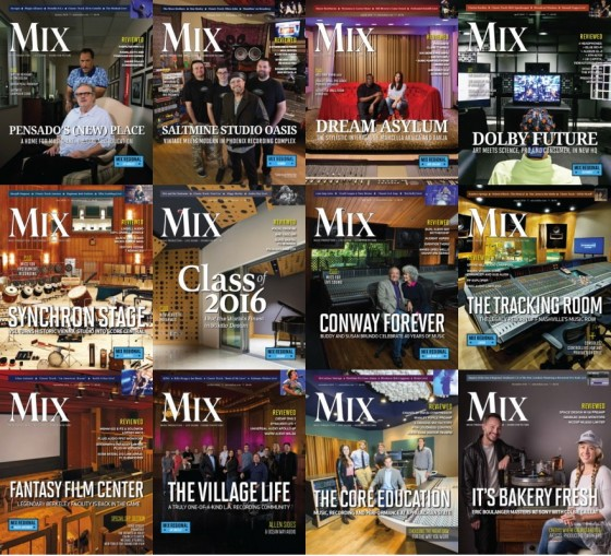 Mix Magazine 2016 Full Year Issues Collection