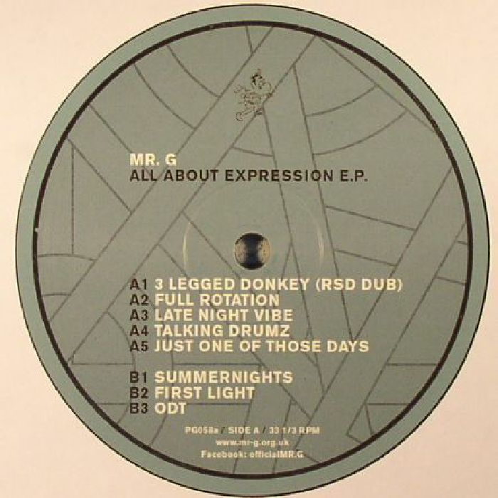 Mr. G - All About Expression EP [PG058]