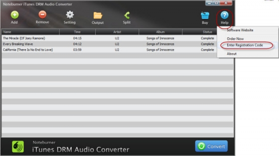 NoteBurner iTunes DRM Audio Converter 2.0.3 MacOSX