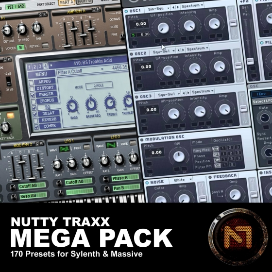 Nutty Traxx Mega Pack For NATiVE iNSTRUMENTS MASSiVE AND SYLENTH1