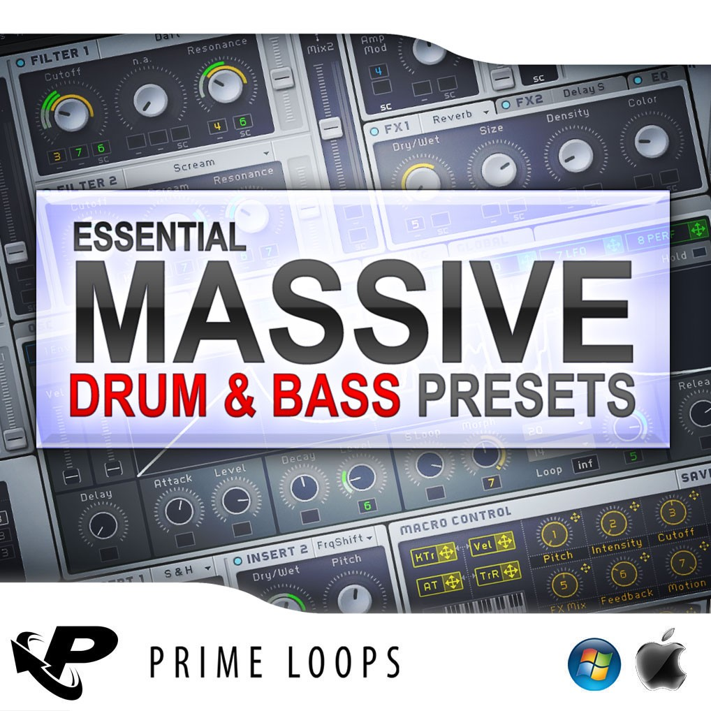 Prime Loops Essential DnB Presets For Massive NMSV