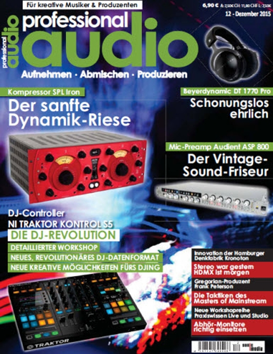 Professional Audio Magazin Dezember No 12 2015