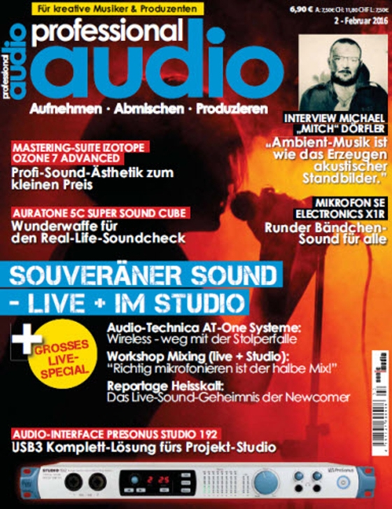 Professional Audio Magazin Februar No 02 2016