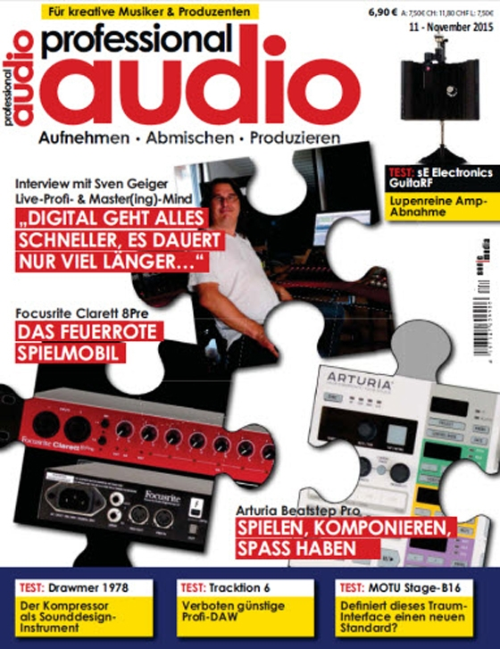 Professional Audio Magazin November No 11 2015