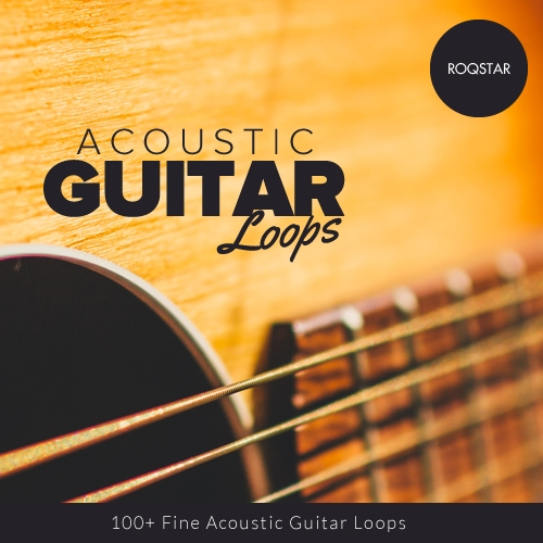 ROQSTAR Entertainment Acoustic Guitar Loops WAV