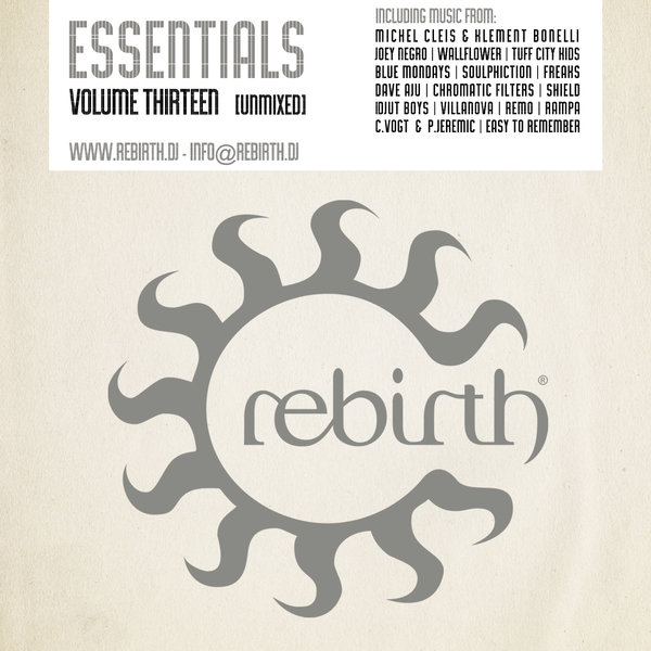 VA - Rebirth Essentials Volume Thirteen  [REB035CD]