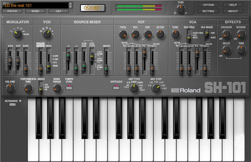 Roland SH-101 v1.0.4 Plug Out Synth OSX