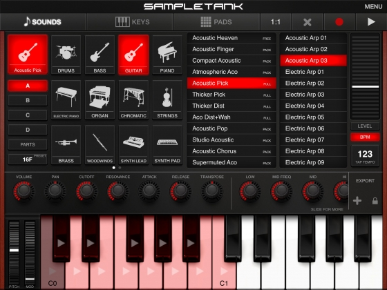 SampleTank IK Multimedia v1.8.3 for iPad iOS-Deep3r