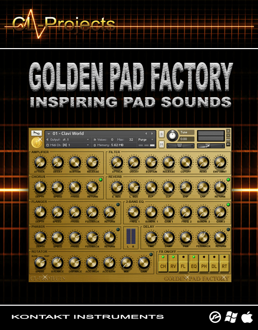 Sampleism CL-Projects Golden Pad Factory Inspiring Pad Sounds KONTAKT-KRock