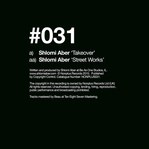 Shlomi Aber - Takeover / Street Works [NONPLUS031]